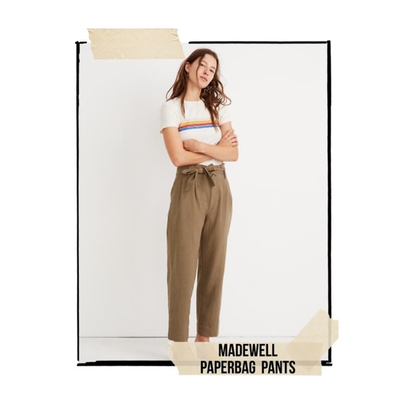 Madewell Pants - Madewell Paperbag Pants in Olive